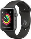 Apple Watch Series 3 (42 мм, корпус из алюминия цвета «серый космос», спортивный ремешок серого цвета)