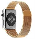 Миланский сетчатый ремешок Apple Watch 38mm с застежкой Gold