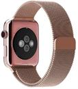 Миланский сетчатый ремешок Apple Watch 42mm с застежкой Rose Gold