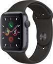 Apple Watch Series 5 44 мм Корпус из алюминия цвета «серый космос», спортивный ремешок чёрного цвета