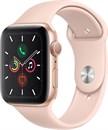 """Apple Watch Series 5 40 мм Корпус из алюминия золотого цвета, спортивный ремешок цвета """"розовый песок"""""""